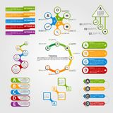Set colorful infographics design elements. Stock Image