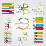 Set colorful infographics design elements. Stock Image