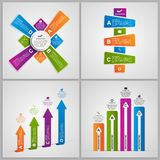 Set colorful infographics design elements. Vector illustration Royalty Free Stock Photography