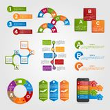 Set colorful infographics design elements. Royalty Free Stock Images