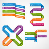 Set colorful infographics design elements. Vector illustration Royalty Free Stock Photo