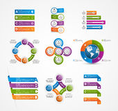 Set colorful infographics design elements. Royalty Free Stock Image