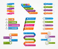 Set colorful infographics design elements. Royalty Free Stock Photos