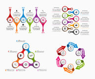 Set colorful infographics in the form of metabolic. Design elements. Royalty Free Stock Photography