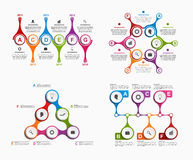 Set colorful infographics in the form of metabolic. Design elements. Vector illustration Royalty Free Stock Photography
