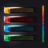 Set of colorful infographics glowing options Royalty Free Stock Photography
