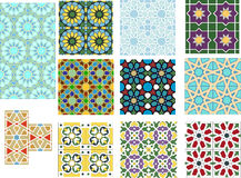 Set of colorful islamic patterns Royalty Free Stock Photography