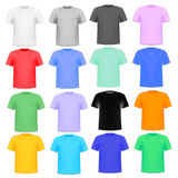 set of colorful knitted shirts on a white Royalty Free Stock Photo