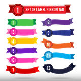 Set of colorful label ribbon tag  013 Royalty Free Stock Photos