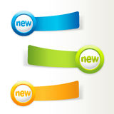 Set of colorful labels. Stock Photography