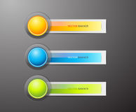 Set of colorful labels. Royalty Free Stock Images