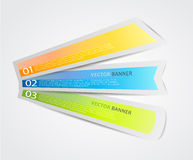 Set of colorful labels. Stock Photos