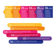 Set of colorful labels. Royalty Free Stock Photo