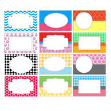 Set of Colorful Labels Royalty Free Stock Photo