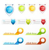Set of colorful labels and badges. Vector art Stock Photo