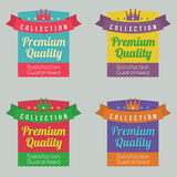 Set of Colorful Labels Royalty Free Stock Photos