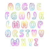 Set of colorful letters. Alphabet for your Design Stock Image