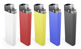 Set of colorful lighters Royalty Free Stock Photo