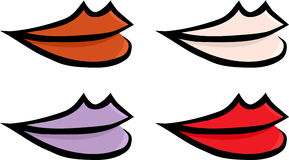 Set of Colorful Lips Royalty Free Stock Image
