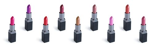 Set of colorful lipstick Royalty Free Stock Photos