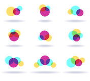 Set of colorful logos Stock Photography
