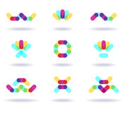 Set of colorful logos Royalty Free Stock Photos