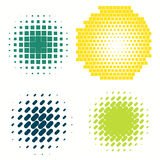 Set of colorful logos halftone Circles Logo, vector illustration. Set of Abstract Halftone Circles Logo, vector illustration globes in colorful dots Royalty Free Stock Image