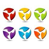 Set of colorful logos Royalty Free Stock Photo