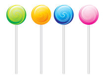 Set of colorful Lolipops Stock Photos