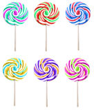 Set of colorful lolipops isolated on white background Royalty Free Stock Image