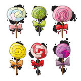 Set of colorful lollipops in hand drawn style Stock Photo