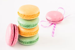 Set of colorful macaroons Royalty Free Stock Images