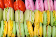 Set of colorful macaroons for tasty background Royalty Free Stock Photo