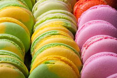 Set of colorful macaroons for tasty background. Selective Focus. Royalty Free Stock Photo