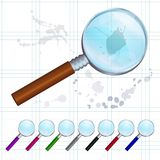 Set of colorful magnifying glasses Royalty Free Stock Photo