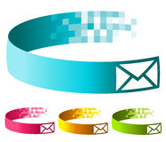 Pixel Email Banners Royalty Free Stock Image
