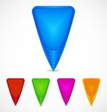 Set of Colorful Map Markers Royalty Free Stock Image