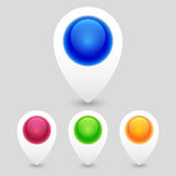 Set of Colorful Map Markers Royalty Free Stock Photography