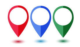 Set of colorful map pointers Royalty Free Stock Images