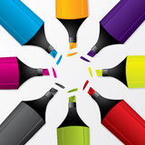 Set of colorful markers Royalty Free Stock Photo
