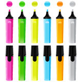 Set of colorful markers Stock Photography