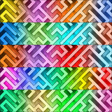 Set of colorful maze headers Royalty Free Stock Images