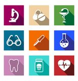 Set of colorful medical icons Stock Photos