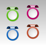 Set of colorful metalic clip Royalty Free Stock Image