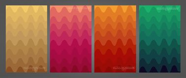 Set of colorful and modern backgrounds. royalty free illustration