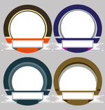 Set of Colorful Modern Emblem Frames Stock Photos