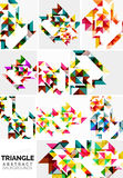 Set of colorful modern triangle pattern Stock Photo