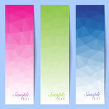 Set of colorful mosaic background stripes Royalty Free Stock Photography