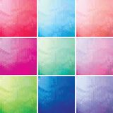 Set of colorful mosaic background of triangle. S Stock Photo