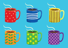 Set of colorful mug Royalty Free Stock Images